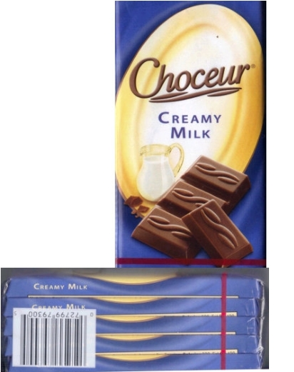 Choceur Tablets - Milk Chocolate Bars 1.4oz/40g (5 tablets)
